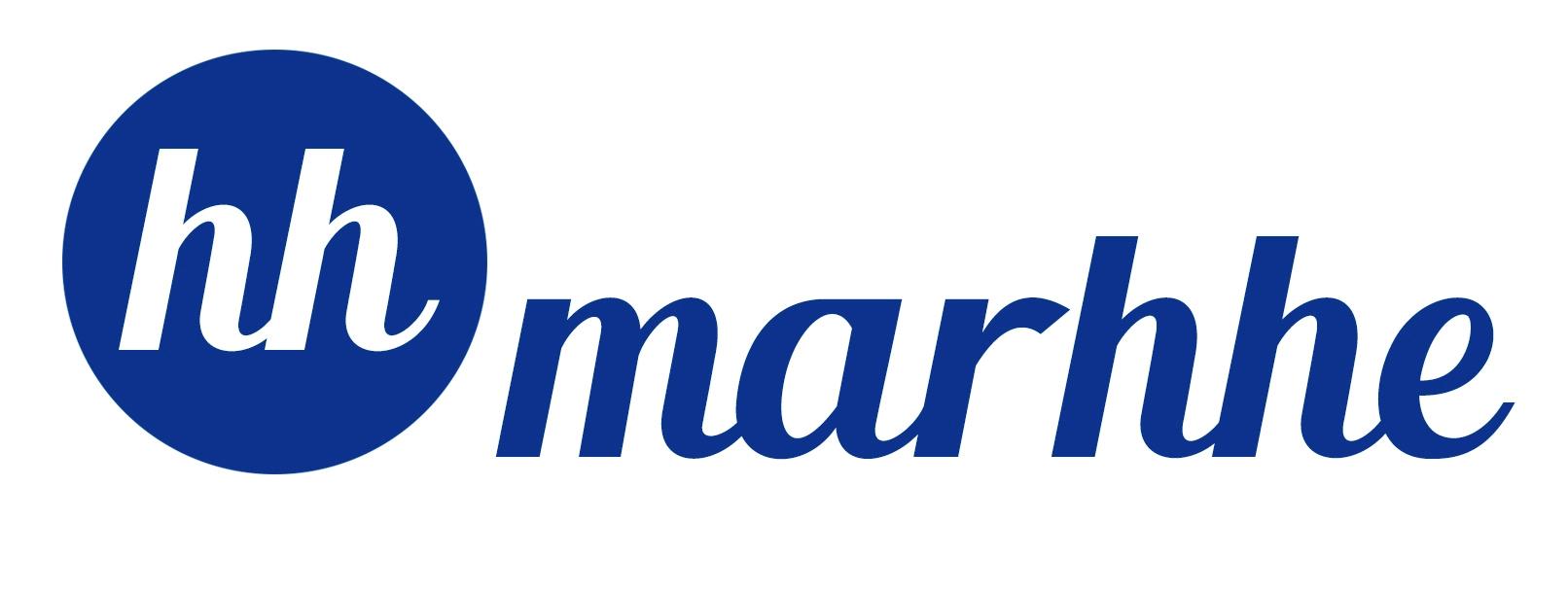 Logo Marhhe azul fondo blanco