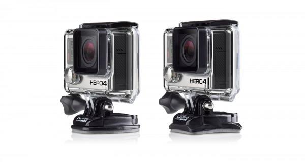Bases adhesivas en cámara Hero4